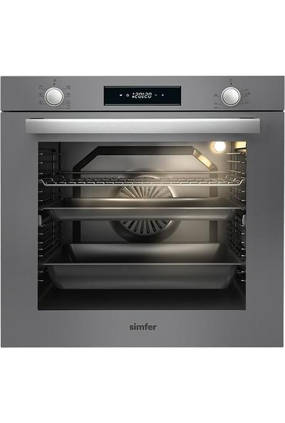 Simfer Silver Ankastre Cam Set (7335 Fırın 3537 Ocak 8613 Davlumbaz)