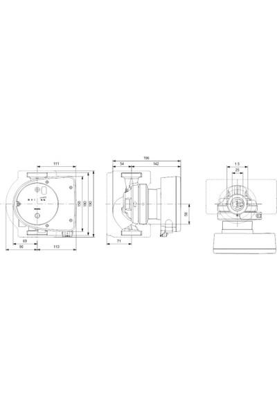 Grundfos Magna1 25-120 N 180 1X230V Pn10