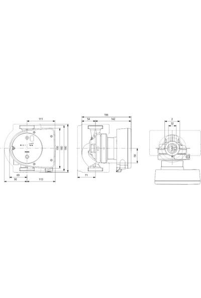 Grundfos Magna1 32-60 180 1X230V Pn10