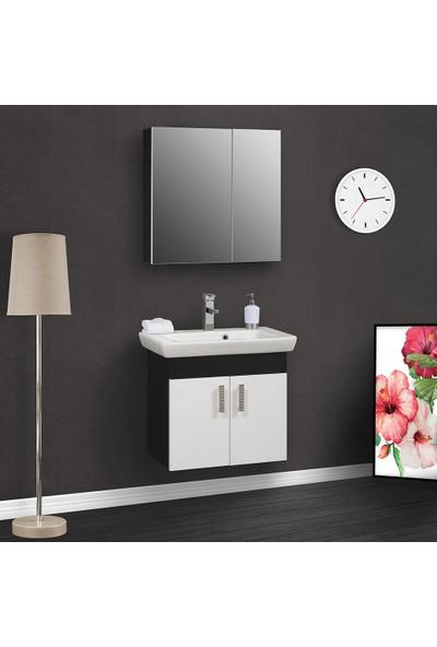 Tekoplus Porto Banyo Dolabı Takım 38 x 85 cm Siyah
