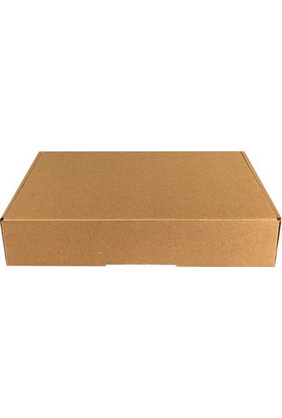 Dereli Matbaa Kraft k Posta E-Ticaret Kutusu 25 X 19 X 5,5 cm 10'lu Dayanıklı Malzemeden Üretilmiştir