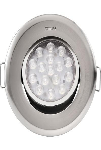 Philips Gömme Spot Lamba 47040/11/66 Nikel Gövde 2700K