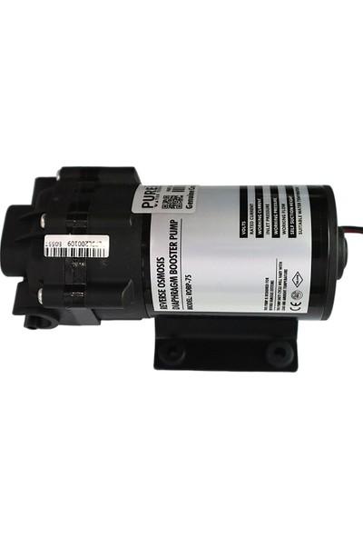 Pure Su Arıtma Cihazı Basınç Pompası 75 Gpd