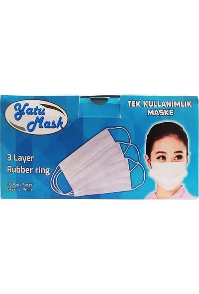 Yatu Mask Tek Kullanımlık Cerahi Maske Telli 3 Katlı 2 Kutu 100 Adet