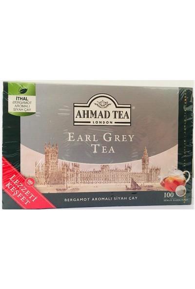 Ahmad Tea Earl Grey 100'LÜ Demlik Poşet 3,2 gr x 100