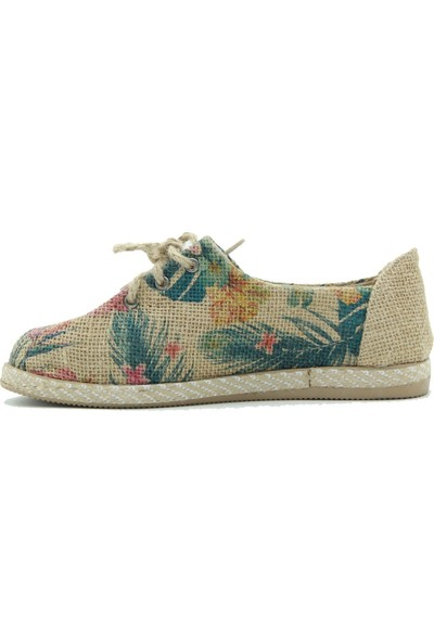 Tuğrul Ayakkabı Kadın Günlük Ayakkabı 5236 Vizon-Pembe