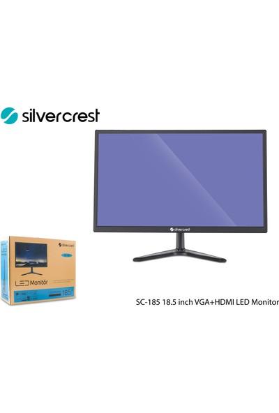 "Silvercrest SC-185 18.5"" 60Hz 1ms (HDMI+D-Sub) LED Monitör"