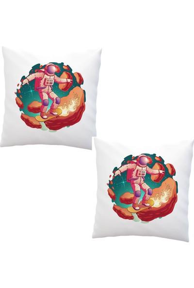 Elele Home Dekoratif Yastık Kırlent Kılıfı-EYS-86-2-SET