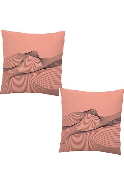 Elele Home Dekoratif Yastık Kırlent Kılıfı-EYS-230-2-SET