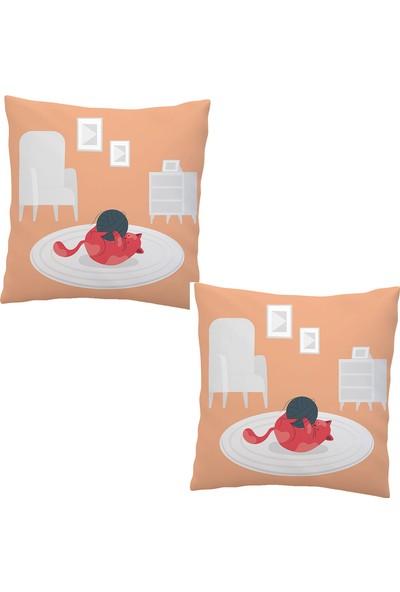 Elele Home Dekoratif Yastık Kırlent Kılıfı-EYS-257-2-SET