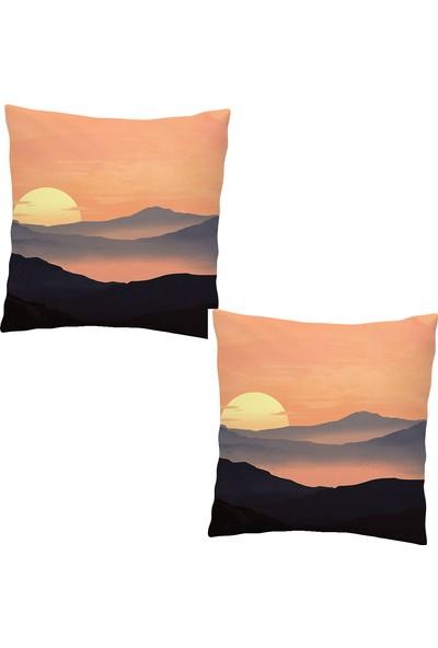 Elele Home Dekoratif Yastık Kırlent Kılıfı-EYS-376-2-SET