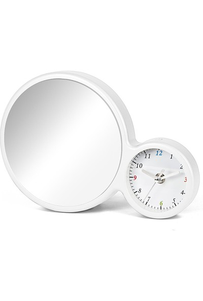 Birlik Fotoğrafçılık Beyaz Saatli LED Işıklı Ayna 048