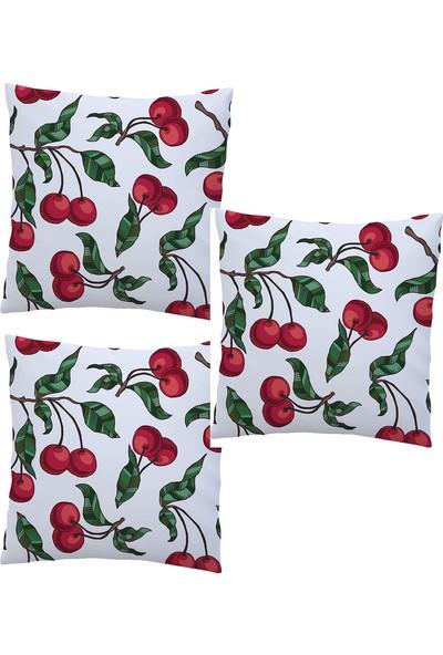 Elele Home Dekoratif Yastık Kırlent Kılıfı-EYS-45-3-SET