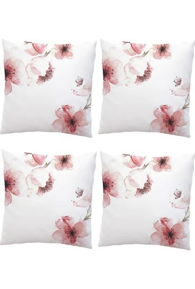 Elele Home Dekoratif Yastık Kırlent Kılıfı-EYS-63-4-SET