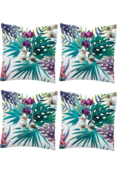 Elele Home Dekoratif Yastık Kırlent Kılıfı-EYS-136-4-SET
