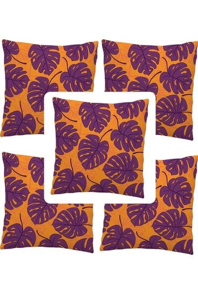 Elele Home Dekoratif Yastık Kırlent Kılıfı-EYS-139-5-SET
