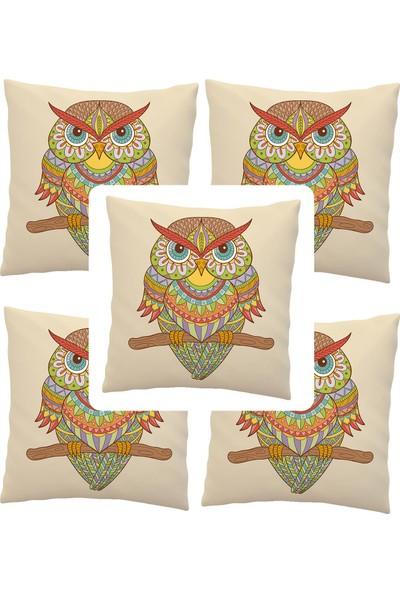 Elele Home Dekoratif Yastık Kırlent Kılıfı-EYS-222-5-SET