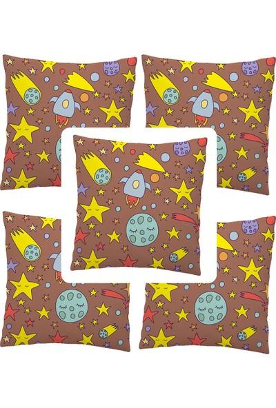 Elele Home Dekoratif Yastık Kırlent Kılıfı-EYS-286-5-SET
