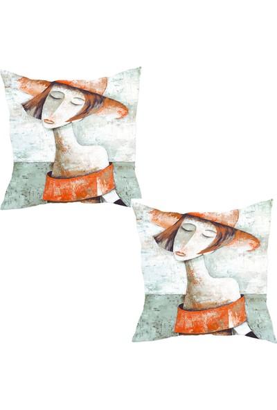 Elele Home Dekoratif Yastık Kırlent Kılıfı-YS21210409-2-SET