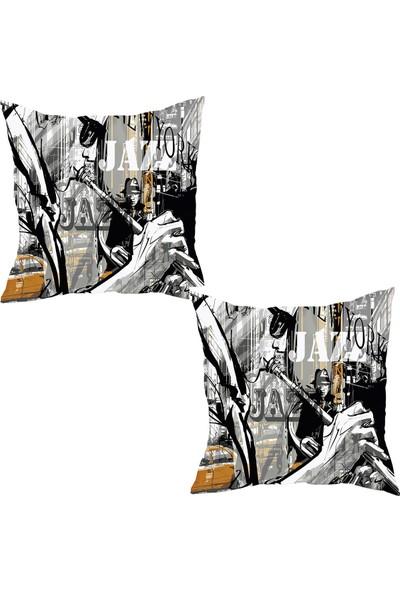 Elele Home Dekoratif Yastık Kırlent Kılıfı-YS389405815-2-SET