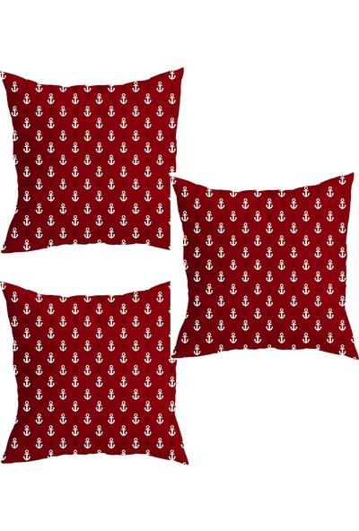 Elele Home Dekoratif Yastık Kırlent Kılıfı-YS172206-3-SET