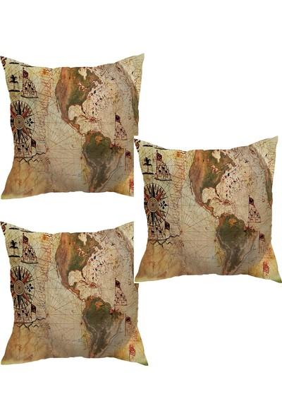 Elele Home Dekoratif Yastık Kırlent Kılıfı-YS202382-3-SET