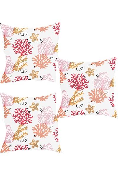 Elele Home Dekoratif Yastık Kırlent Kılıfı-YS2310260-3-SET