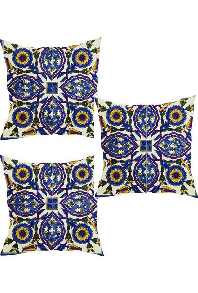 Elele Home Dekoratif Yastık Kırlent Kılıfı-YS21851162-3-SET