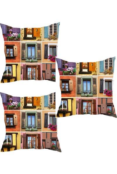 Elele Home Dekoratif Yastık Kırlent Kılıfı-YS36336367-3-SET