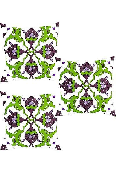 Elele Home Dekoratif Yastık Kırlent Kılıfı-YS36888374-3-SET