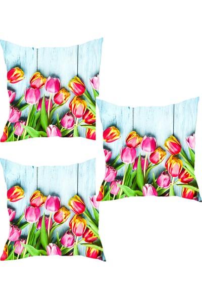 Elele Home Dekoratif Yastık Kırlent Kılıfı-YS69063575-3-SET