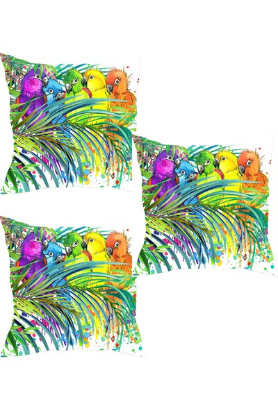 Elele Home Dekoratif Yastık Kırlent Kılıfı-YS76919847-3-SET