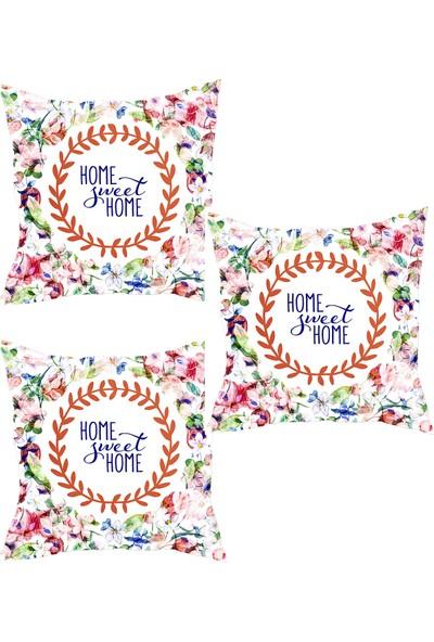Elele Home Dekoratif Yastık Kırlent Kılıfı-YS102151550-3-SET