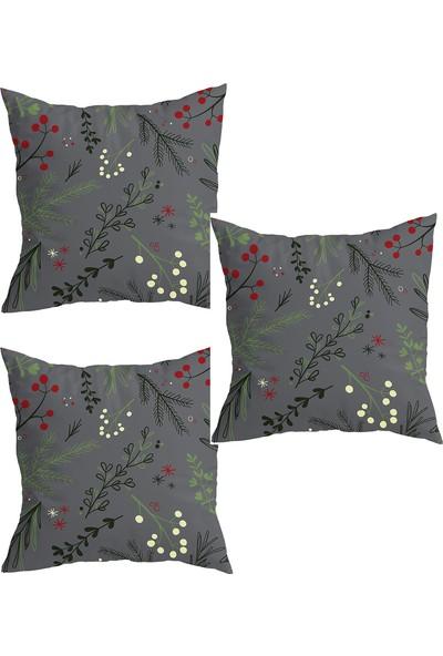 Elele Home Dekoratif Yastık Kırlent Kılıfı-YS134280030-3-SET