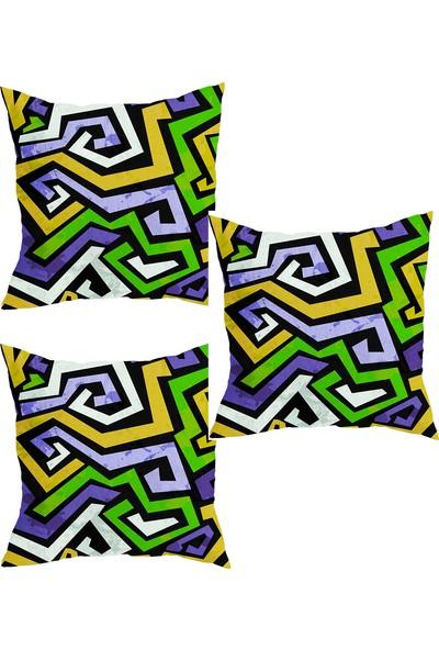 Elele Home Dekoratif Yastık Kırlent Kılıfı-YS241351213-3-SET
