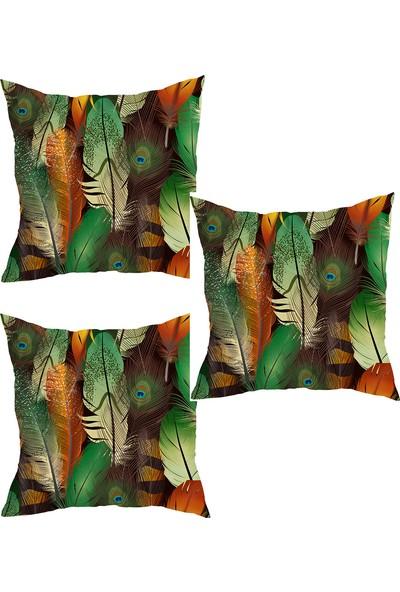 Elele Home Dekoratif Yastık Kırlent Kılıfı-YS391084693-3-SET