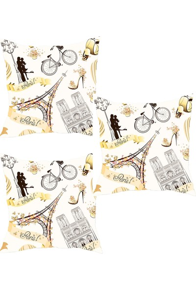 Elele Home Dekoratif Yastık Kırlent Kılıfı-YS501380192-3-SET