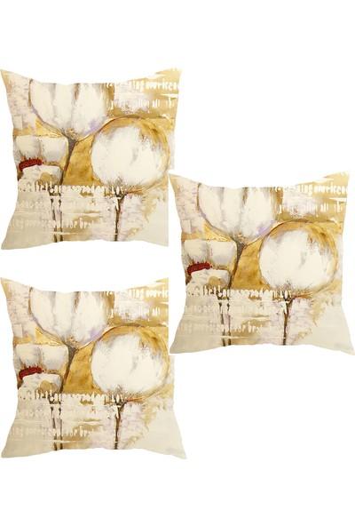Elele Home Dekoratif Yastık Kırlent Kılıfı-YS2248943081-3-SET