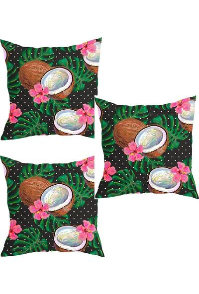 Elele Home Dekoratif Yastık Kırlent Kılıfı-YS8534701010-3-SET