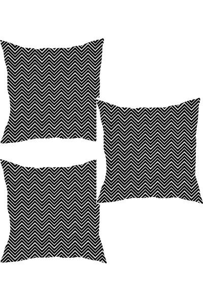 Elele Home Dekoratif Yastık Kırlent Kılıfı-YS191061534560-3-SET