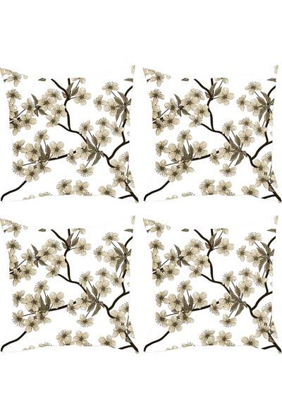 Elele Home Dekoratif Yastık Kırlent Kılıfı-YS103032226-4-SET