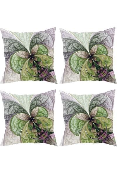 Elele Home Dekoratif Yastık Kırlent Kılıfı-YS193651095-4-SET