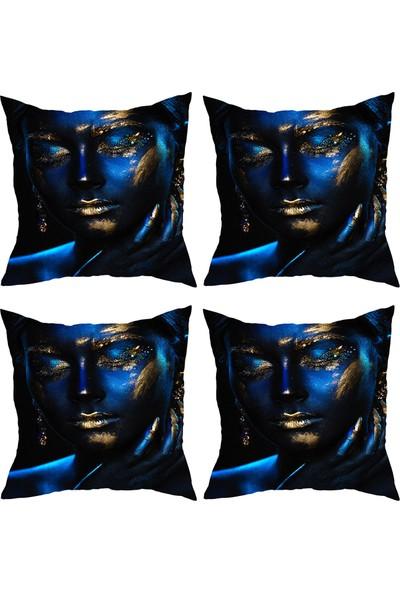 Elele Home Dekoratif Yastık Kırlent Kılıfı-YS1116682913-4-SET