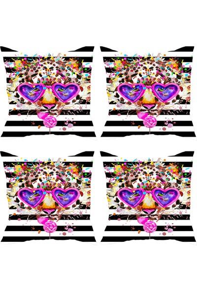 Elele Home Dekoratif Yastık Kırlent Kılıfı-YS2946843234-4-SET
