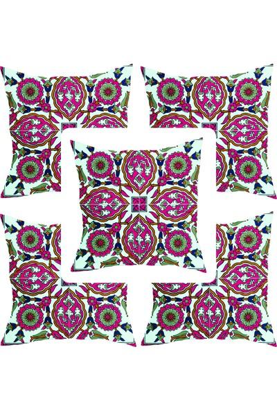 Elele Home Dekoratif Yastık Kırlent Kılıfı-YS21851166-5-SET