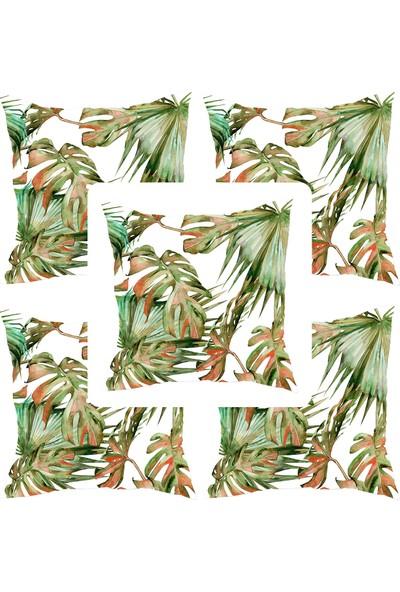 Elele Home Dekoratif Yastık Kırlent Kılıfı-YS4475118796-5-SET