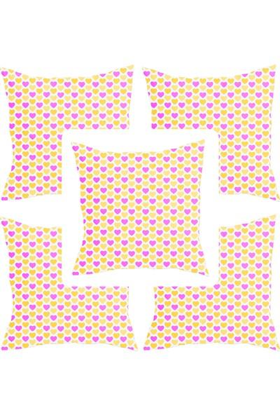 Elele Home Dekoratif Yastık Kırlent Kılıfı-YS19106153416-5-SET