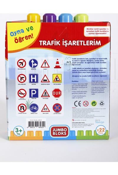 Best Toys Jumbo Bloks Trafik İşaretlerim - 22 Parça