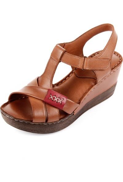 Gön Hakiki Deri Kadın Sandalet 45254