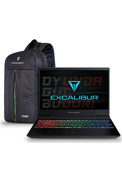 "Casper Excalibur G770.1075-8DJ0A Intel Core i7 10750H 8GB 240GB SSD GTX1650Ti Windows 10 Home 15.6"" FHD Taşınabilir Bilgisayar"